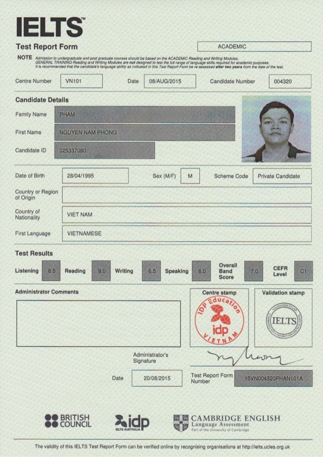 IELTS certificate validity