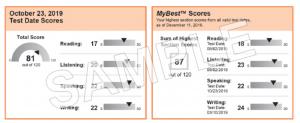TOEFL best my score Exam-Practice